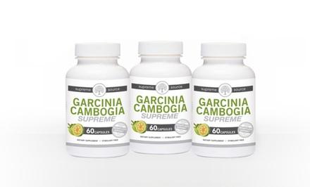 Buy 2 Get 1 Free: Supreme Source Garcinia Cambogia with 60% HCA