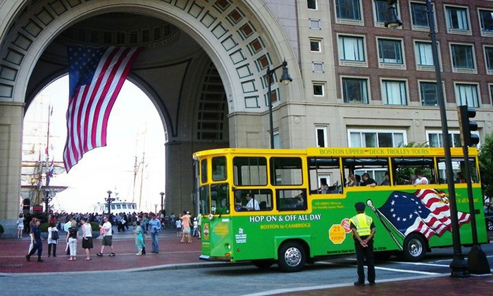 Boston Super Tours - Upper Deck Trolley Tours: Historic Narrated Trolley Tours of Boston for Adults or Children from Boston Super Tours (Up to 27% Off)