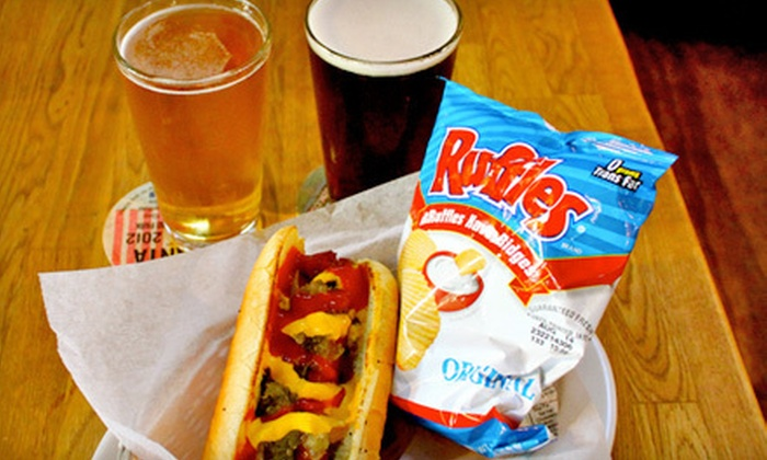 MillTown Arms Tavern - Midtown: $10 for Two Hot Dogs and Two Beers at MillTown Arms Tavern (Up to $23.90 Value)