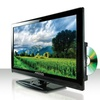 """Axess 24"""" LED HDTV with Built-in DVD Player and AC/DC Power"""