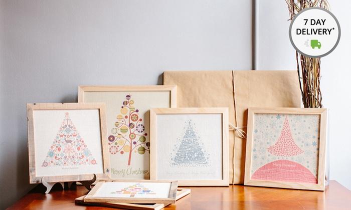 "12""x12"" Christmas Tree Designs on Burlap: 12""x12"" Framed Christmas Tree Designs on Burlap. Multiple Designs Available. Free Returns."