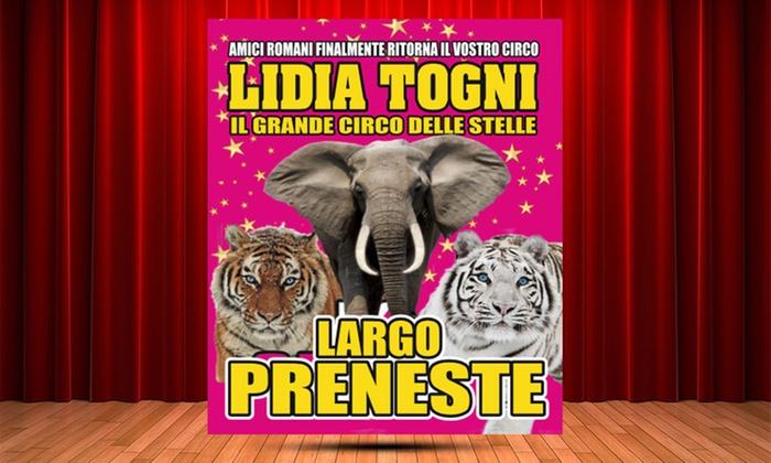 Circo Lidia Togni a Roma - Largo Preneste: Circo Lidia Togni dall'8 gennaio al 4 febbraio a Roma, Largo Preneste