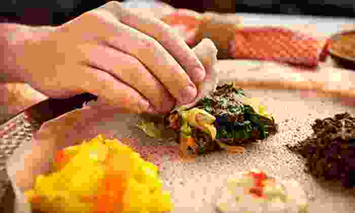 Gojo Ethiopian Restaurant and Bar - Garland: Ethiopian Cuisine at Gojo Ethiopian Restaurant and Bar (Up to 57% Off). Three Options Available.