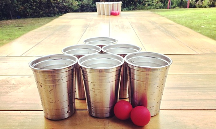 Stainless Steel Beer Pong Kit: Stainless Steel Beer Pong Kit