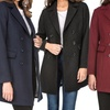 Haute Edition Women's Double-Breasted Wool-Blend Peacoat