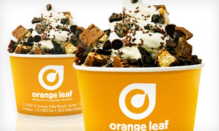 Orange Leaf Frozen Yogurt - Parker: $5 for $10 Worth of Frozen Yogurt at Orange Leaf Frozen Yogurt