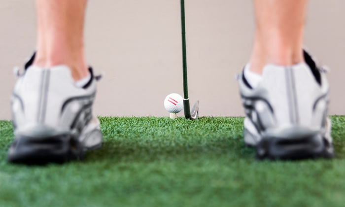 Commit 2B Fit - Oshawa: Indoor Virtual Golf for One, Two, or Four, or Five Rounds for One at Commit 2B Fit (Up to 58% Off)
