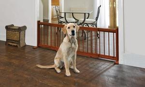Pet Store Expandable Wooden Pet Gate.