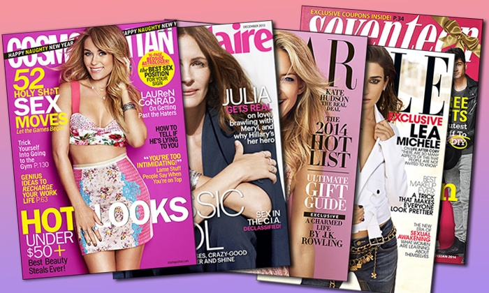 Fashion Magazine Subscriptions: One-Year Fashion Magazine Subscription from Fashion Magazine Subscriptions (Half Off). Five Options Available.