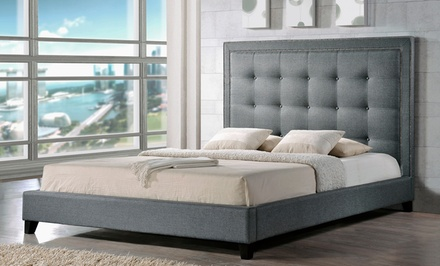 Baxton Studio Angelica Modern Platform Bed for $469.99 or $499.99