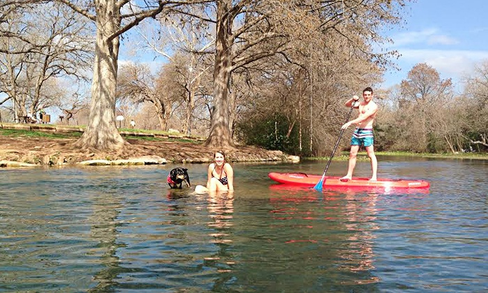 Olympic Outdoor Center - San Marcos: Kayak or Paddleboard Rental from Olympic Outdoor Center (Up to 52% Off). Four Options Available.