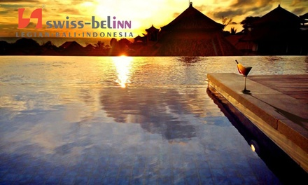 Bali, Legian: 3, 5 or 8 Nights for Two with Breakfast and Discount Towards Food and Beverage at Swiss-Belinn Legian