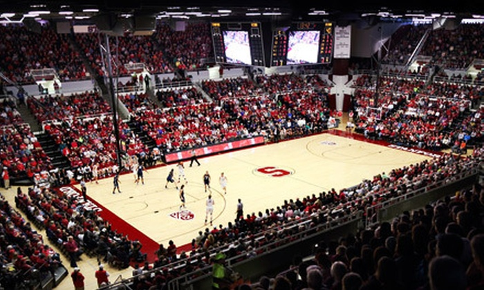 Stanford Men's & Women's Basketball - Stanford: Stanford Cardinal Men's or Women's Basketball Game for Two at Maples Pavilion (Up to 69% Off). Six Games Available.