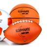 LED Light-Up Soccer, Football and Basketball Ball (3-Piece)