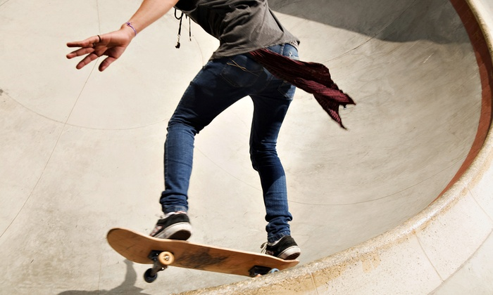 Landslide Skate Park - Clinton Township: 5  Two- or Three-Hour Skate-Park Sessions at Landslide Skate Park in Clinton Township (Up to55% Off)
