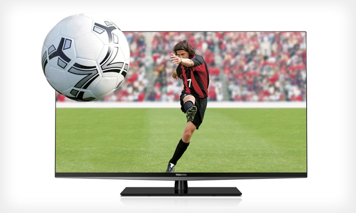 """Toshiba 47"""" LED 3D HDTV with Mount and HDMI Cable: $799 for a Toshiba 47"""" 3-D LED HD TV with Wall Mount and HDMI Cable ($1,736.99 List Price). Free Shipping and Returns."""