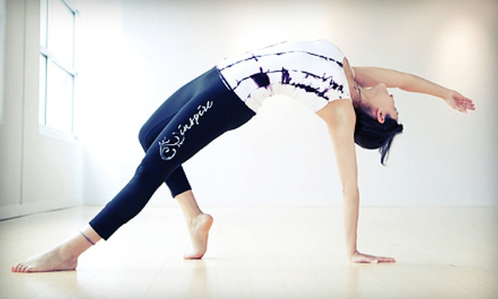 Inspire Yoga - Dallas: 10 or 15 Classes or 6 Months of Unlimited Classes at Inspire Yoga (Up to 86% Off)