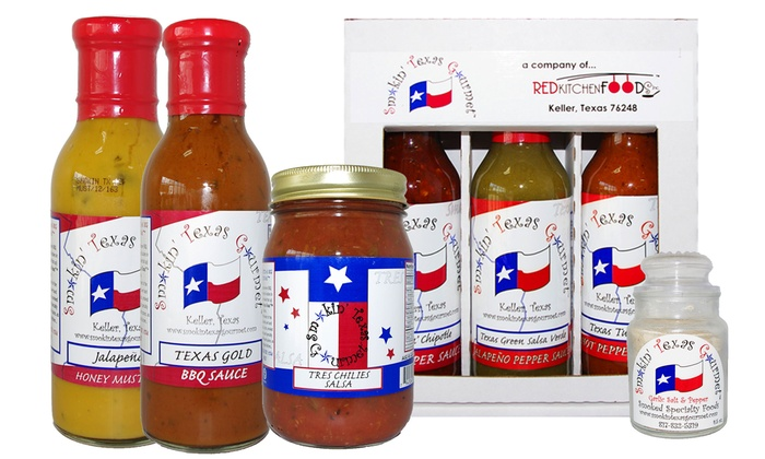 Smokin' Texas Gourmet - Fort Worth: Condiment Trio Gift Package or $10 for $20 Worth of Sauces, Rubs, and Condiments at Smokin' Texas Gourmet