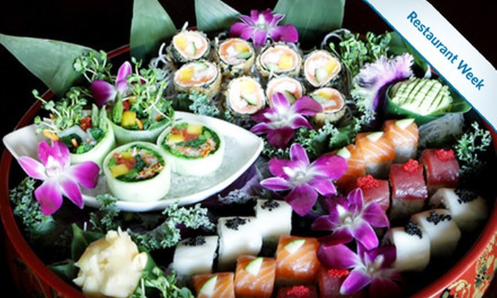 Asian Fin - Palm Beach Gardens: Japanese Dinner with Appetizers and Drinks for Two or Four at Asian Fin in Palm Beach Gardens (Up to 52% Off)