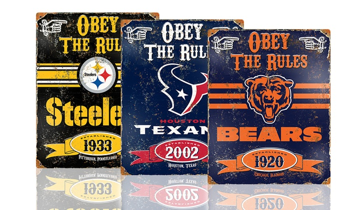NFL Vintage Team Signs: NFL Vintage Team Sign. Multiple Teams Available. Free Returns.