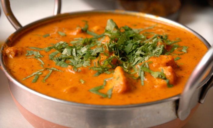 Cafe Taj - McLean: $29 for a Three-Course Indian Meal with an Appetizer and Dessert for Two at Cafe Taj (Up to $58.43 Value)