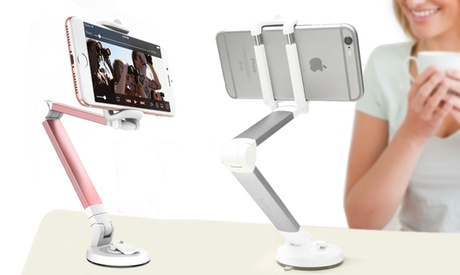 1 o 2 soportes giratorios de 360º para teléfono aptos para coche o escritorio