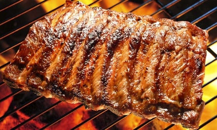 Rib or Tri-Tip Dinner for Two or Four with Appetizers, Bananas Fosters, and Wine at Maderas Steak & Ribs (45% Off)