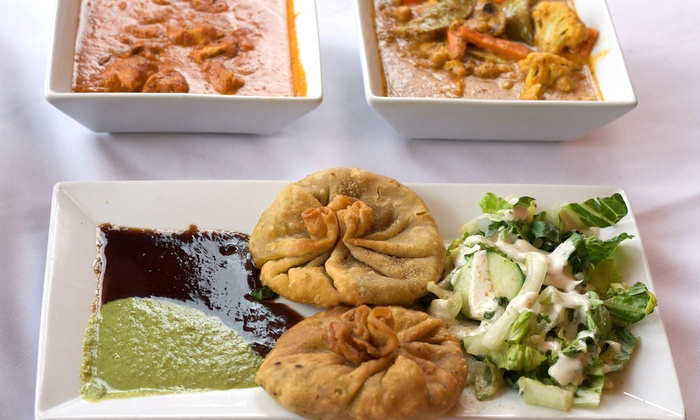 Mela - South End: Indian Meal with Appetizers and Naan for Two or Four at Mela (Up to 53% Off)