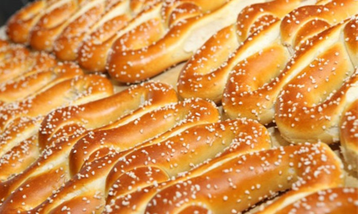 Philly Soft Pretzel Factory - Lumberton: Three, Five, or Nine Groupons, Each Valid for 25 Pretzels at Philly Soft Pretzel Factory (Half Off)