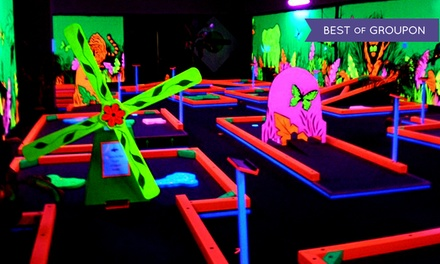 Unlimited Rounds of Glow-in-the-Dark Mini Golf During One Visit for Two or Five at Glowgolf (Up to 57% Off)