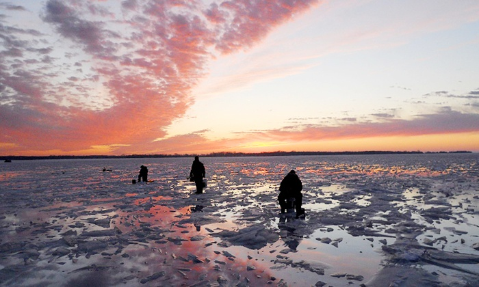 Trophy Ice Fish - Green Bay: Eight-Hour Ice-Fishing Trip for Two or Four at Trophy Ice Fish (Half Off)