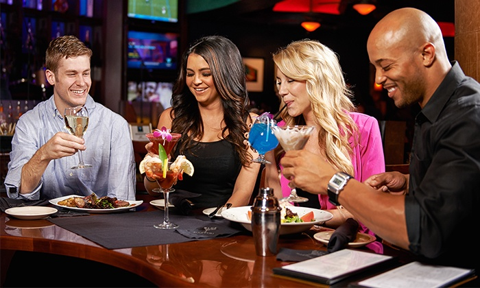 Blue Martini - High Street: Upscale American Food and Drinks at Blue Martini (50% Off). Two Options Available.
