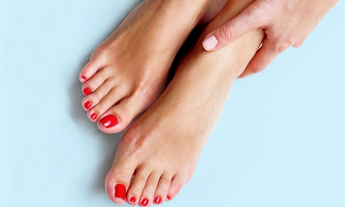 Simpaticos Salon & Spa - Clay: OPI Gel Manicure or Classic Mani-Pedi at Simpaticos Salon & Spa (Up to 52% Off)