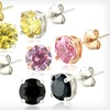 87% Off Five Pairs of Colored CZ Earrings