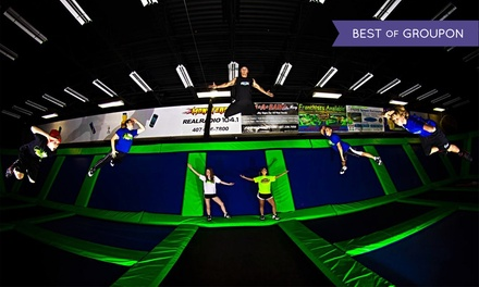 One Hour or Unlimited Jump Time for 2 or 4 with Pizza or Birthday for 15 at Rebounderz Orlando (Up to 39% Off)