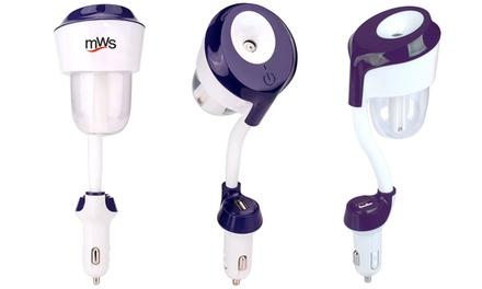 Umidificatore purificatore aromaterapia da auto con porta USB di ricarica