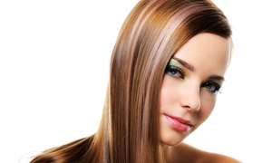 Luxe de Vil Salon: Haircut with Deep Conditioning and Style and Optional Highlights at Luxe de Vil Salon (Up to 47% Off)