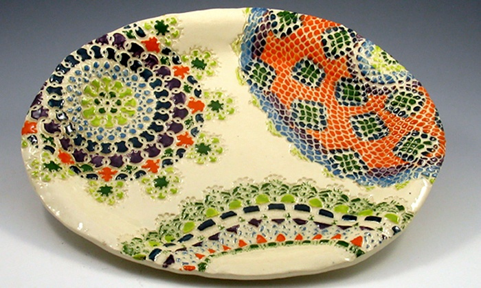 Terra Incognito - Oak Park: 90-Minute Lace-Pattern Plate Pottery Class for One, Two, or Four at Terra Incognito (Up to 56% Off)