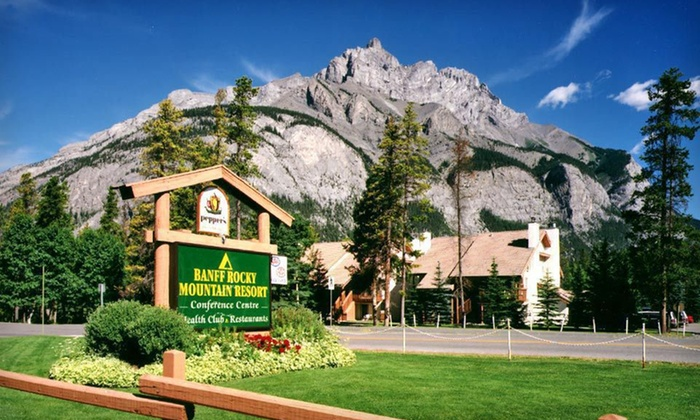 Banff Rocky Mountain Resort - Banff, AB: Two-Night Stay for Two with a Bottle of Wine at Banff Rocky Mountain Resort in Banff, AB