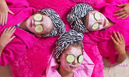 Sparkled Spa Package with Pink Drinks for One, Two, or Five Girls at Sparkled Pink (Up to 53% Off)