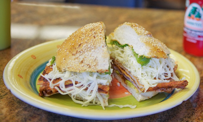 Cemitas Puebla - Chicago: Mexican Meal with Chalupas, Cemitas, and Drinks for Two or Four at Cemitas Puebla (Up to 50% Off)