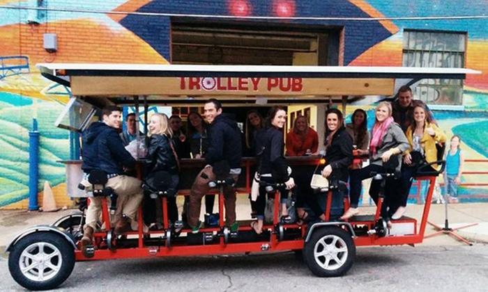 Trolley pub houston bourbon on bagby trolley pub tour for 2 4 or