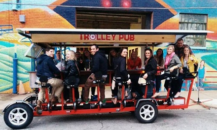 Trolley Pub Tour for 2, 4, or 6, or a Private Trolley Pub Tour for 14 from Trolley Pub Houston (Up to 47% Off)