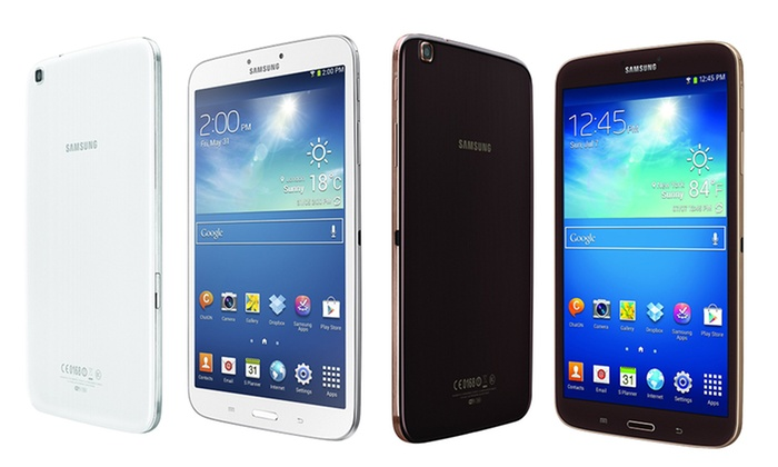 """Samsung 8"""" Galaxy Tab 3 16GB Tablet: Samsung 8"""" Galaxy Tab 3 with 16GB Memory in White or Gold/Brown (SM-T3100) (Manufacturer Refurbished). Free Returns."""
