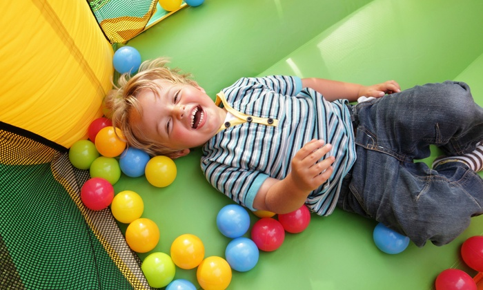 Bouncin Play - Bouncin Play: Four Open-Play Passes or Birthday-Party Package for 10 Kids at Bouncin' Play (Up to 52% Off)