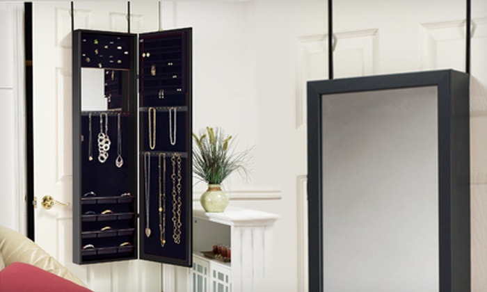 99 For A Hanging Mirrored Jewelry Armoire Groupon