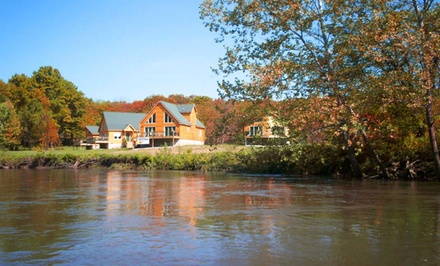 groupon daily deal - 1-Night Stay for Up to Eight in a Lodge at RiverWood Resort in Lebanon, MO. Combine up to Two Nights.