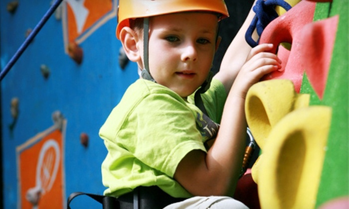 North Wall Rock Climbing Gym - Crystal Lake: Rock-Climbing Pass for Two, Parent and Child Lesson, or Rock-Climbing Summer Camp at North Wall (Up to 53% Off)