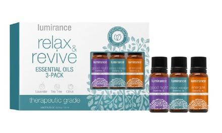 $19 for a ThreePiece Lumirance Relax and Revive Essential Oils Kit Don't Pay $49