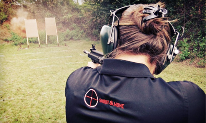 Shoot & Move - Shoot and Move, LLC: Concealed-Weapon Training for One or Two or AR-15 and Carbine Fundamentals Course at Shoot & Move (Up to 56% Off)
